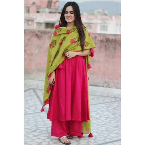 4a75b934b7d Name  Luxuries Dark Pink New Style Festive Wear 2018. SKU  ER11828 Color    Dark Pink Fabric   Viscose Rayon Type   Stitched Style   Printed