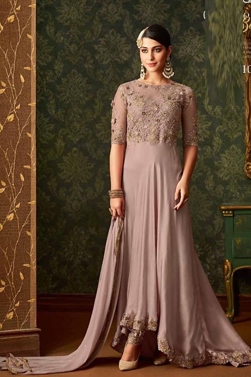 2106bcf58d Attractive Light Purple color Heavy net Georgette Suit