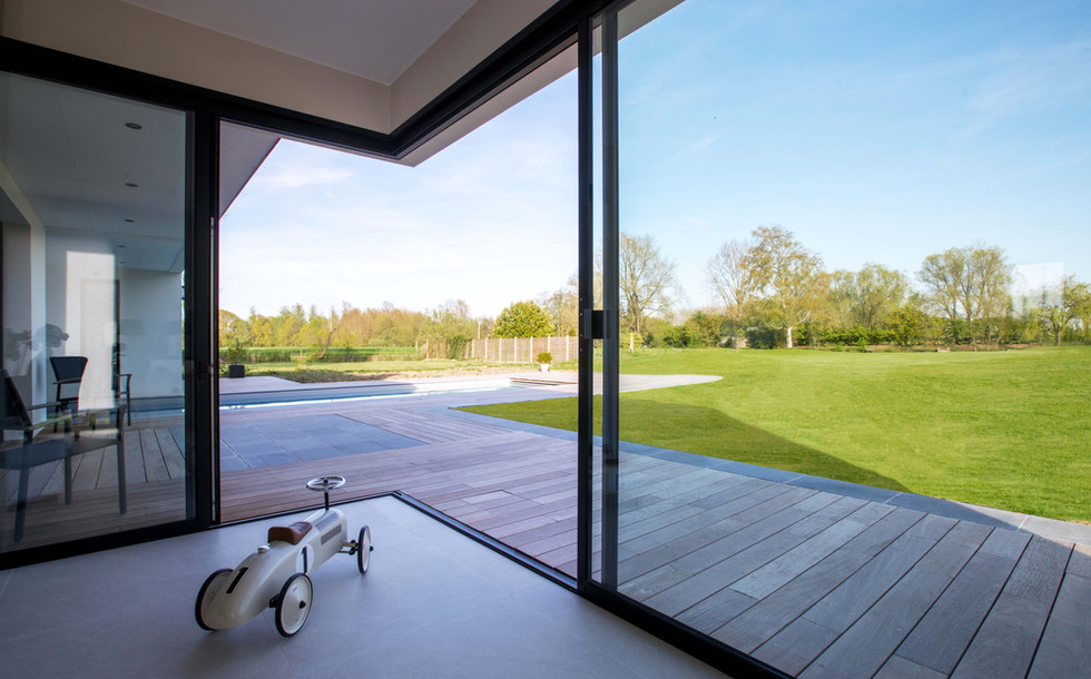 Coulissant d'angle Menuiserie aluminium nord