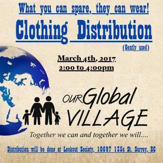 Clothes Distribution to Homeless