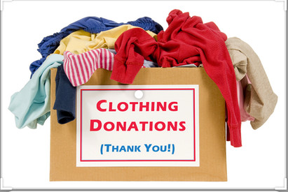 Clothing donations for homeless