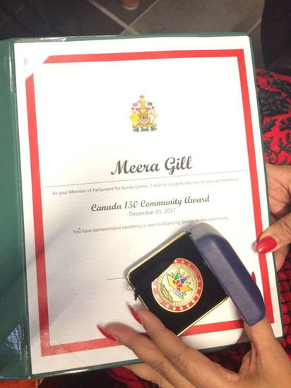 Canada 150 community service award