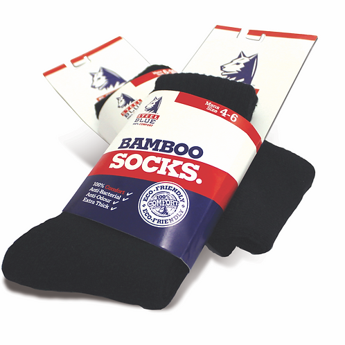 Steel Blue Bamboo Socks