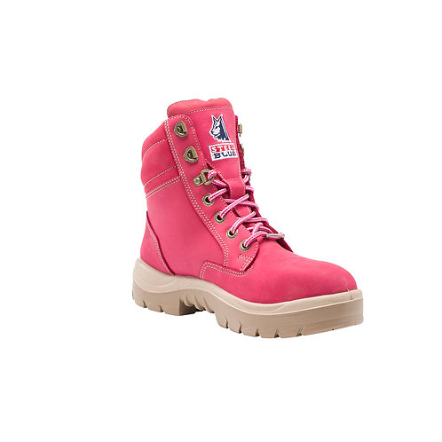Steel Blue Ladies Work Boots Southern Cross S3 - PINK