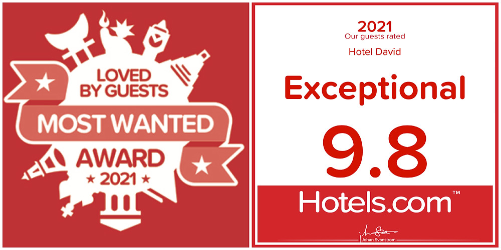 Award 2021 - Loved by Guests - Hotel David in Florence - Exceptional