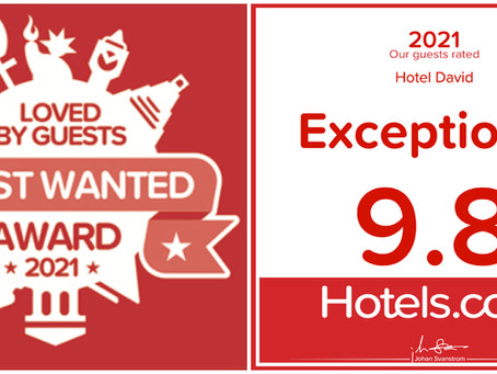 Awards - Hotels.com 2021 - Loved By Guests - Hotel David - Florence