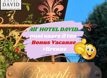 Hotel David accetta il BONUS VACANZA