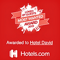 Loved by Guests 2019 - Hotels.com - Award - Hotel David