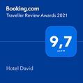 award Booking.com 2021 Hotel David Firenze