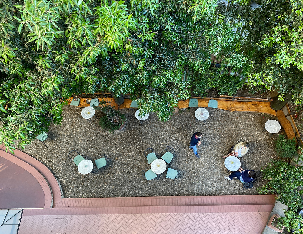 Garten des Hotel David in Florenz - Toskana - Italien