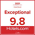 Award - Hotels.com - 2021 - Hotel David in Florenze - Exceptional