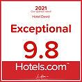 Award - Hotels.com - 2021 - Hotel David in Florenze - Exceptional