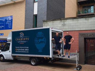Chariots of Chelsea, carry out home removal at Chelsea FC home ground Stamford Bridge.