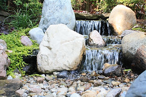cool ponds waterfall installation