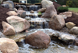 moved into house with waterfall