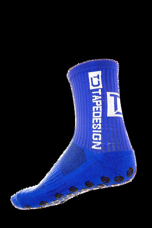 Antirutsch Socken von TapeDesign Blau Unisex für Fussball, Handball, Teamsport