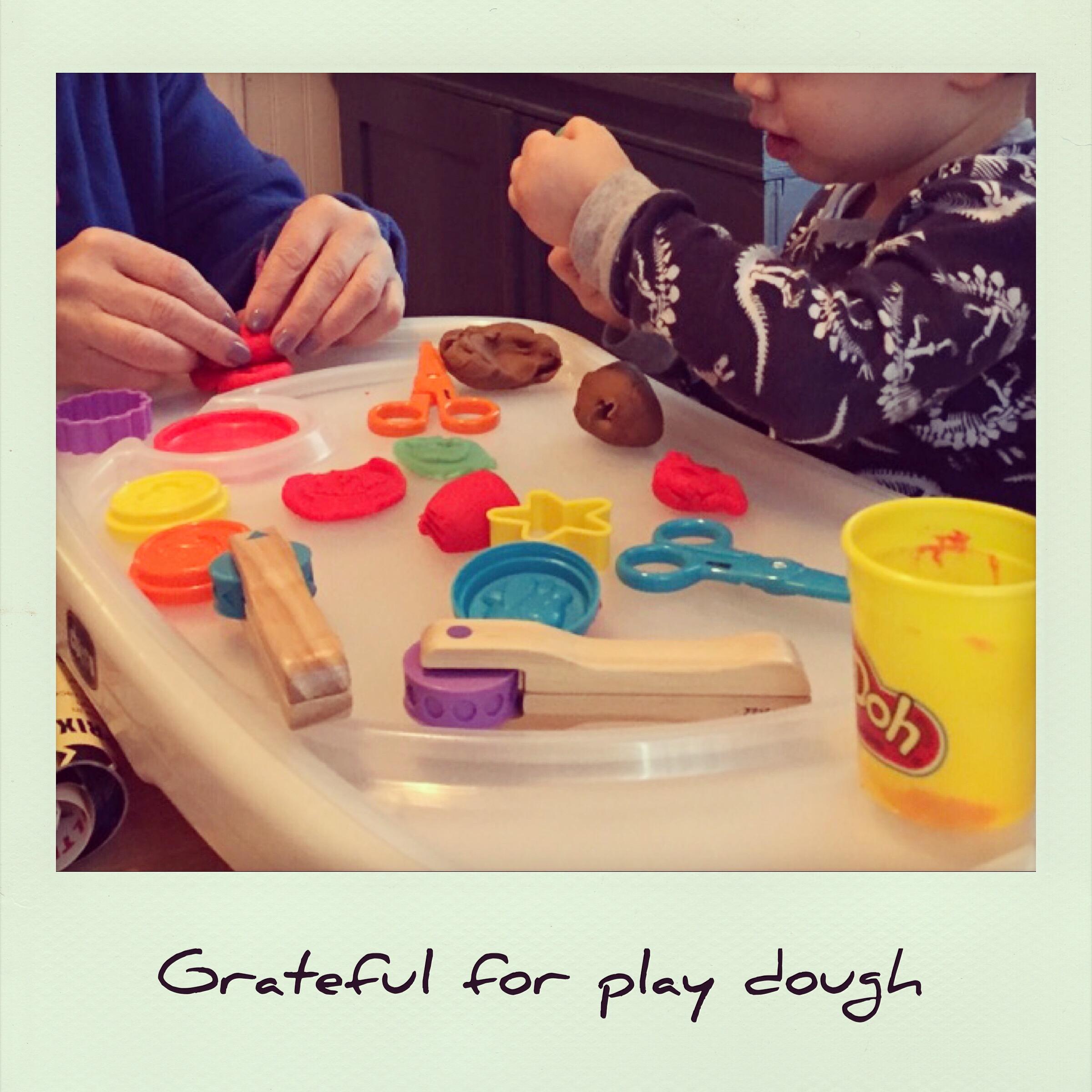 Grateful for play dough