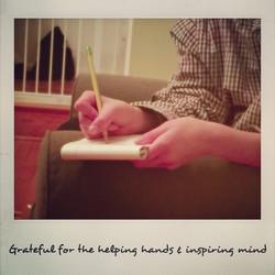 Grateful for inspiring minds
