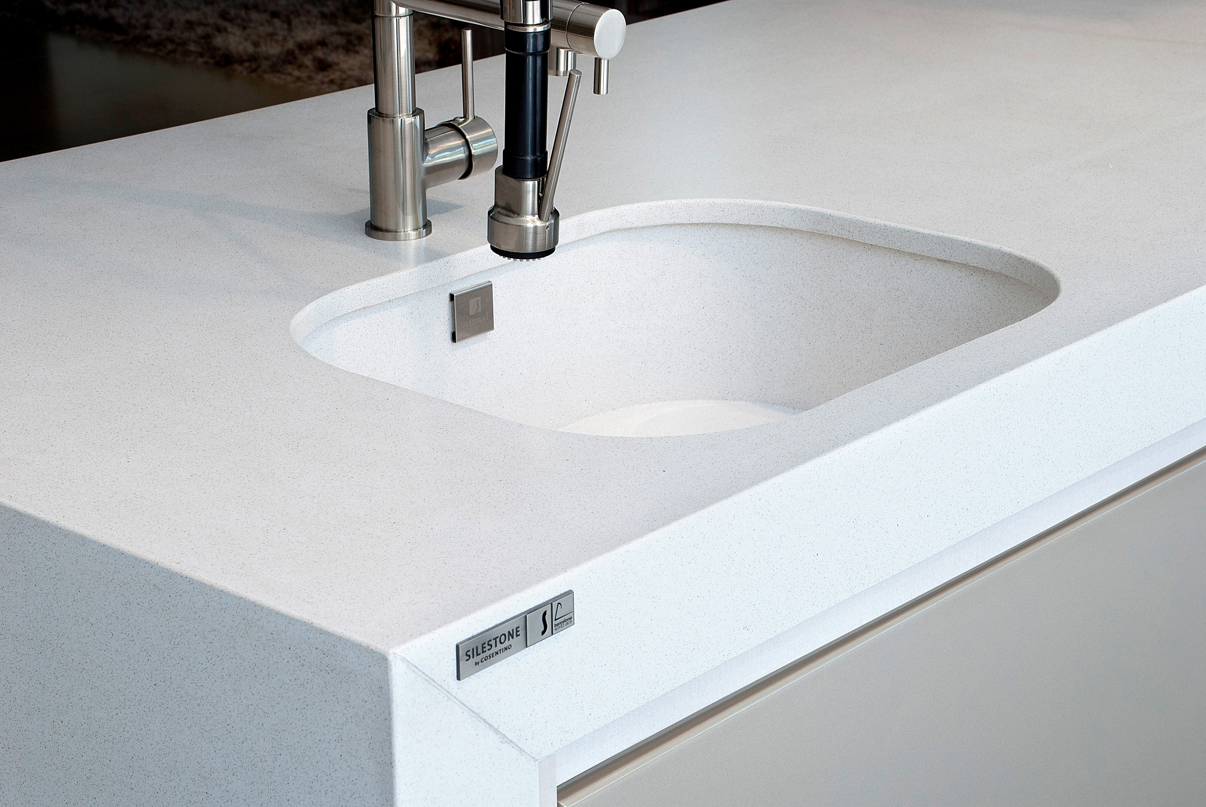 Silestone White Storm Sink