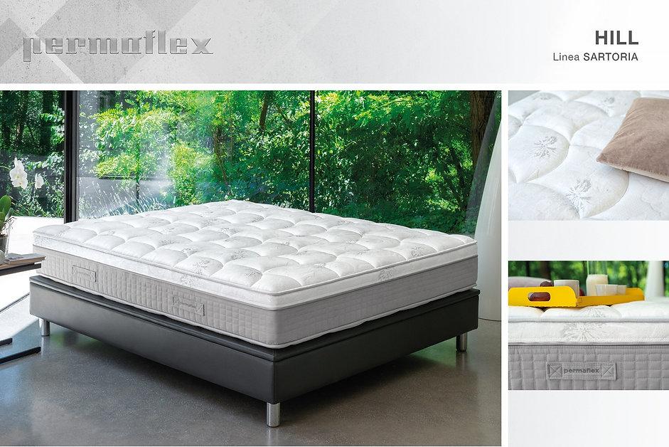 Permaflex Hill , materasso sforabile 1600 molle indipendenti , sfoderabile , anallergico , dispositivo medico classe 1