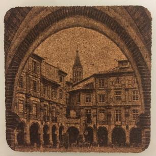 Photogravure sur liège