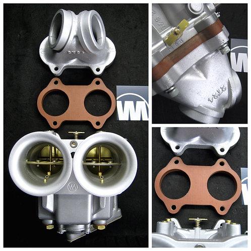 NEW! VM Isolator/ Insulator Block for S&S Two Throat Dual Throat carburetor