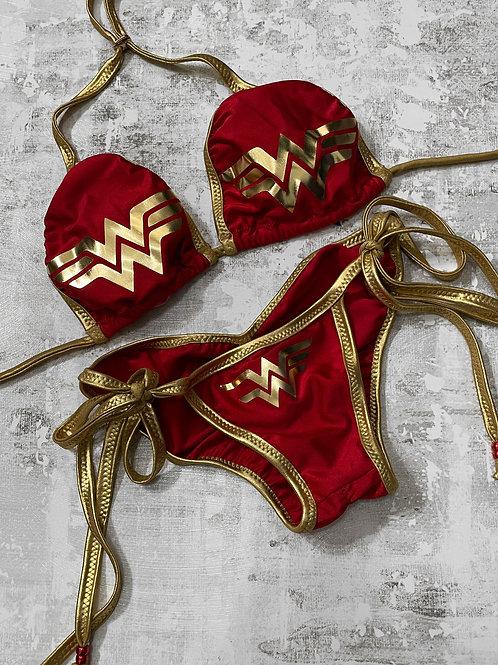 Wonder Woman-Red Swim Bikini