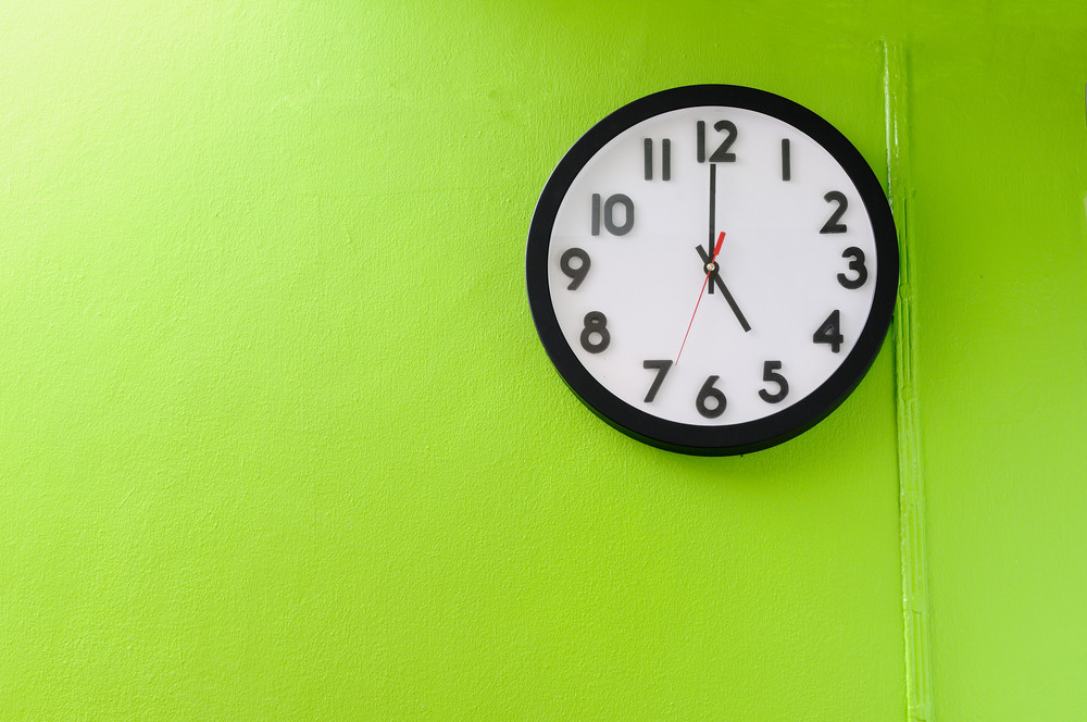 Wall clock, spray tan after 5pm