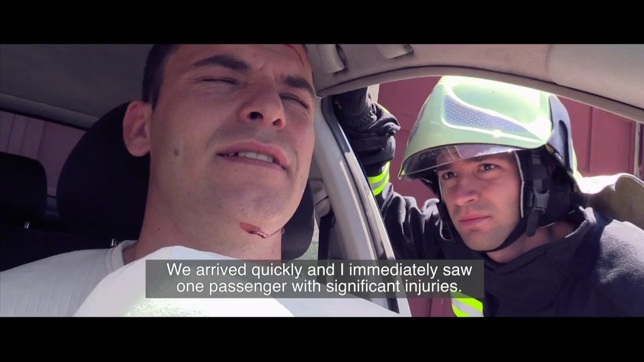 Testemony of a firefighter, the skills he learned from the first responder training helped him save a life.