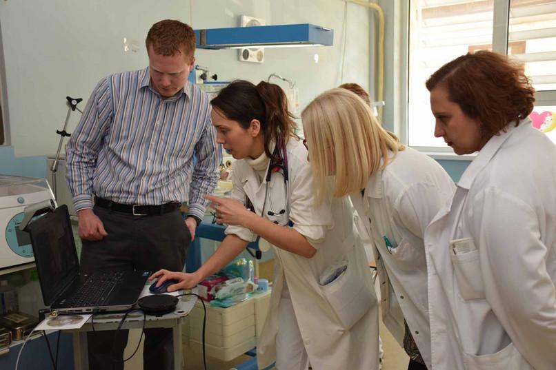 Setting up telemedicine link between NICU in Skopje and Atlanta