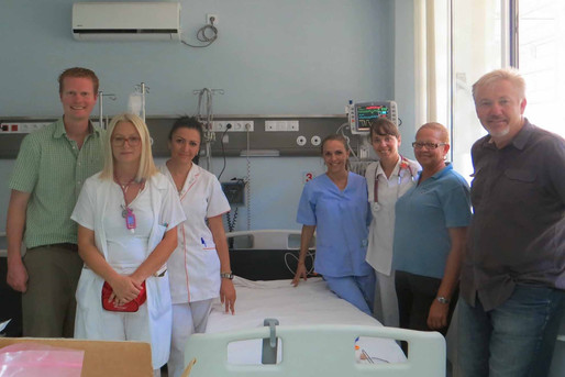 ER staff and donated equipment