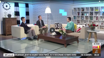 LinkAcross directors, guests at national morning show on MRTV (Macedonian TV)