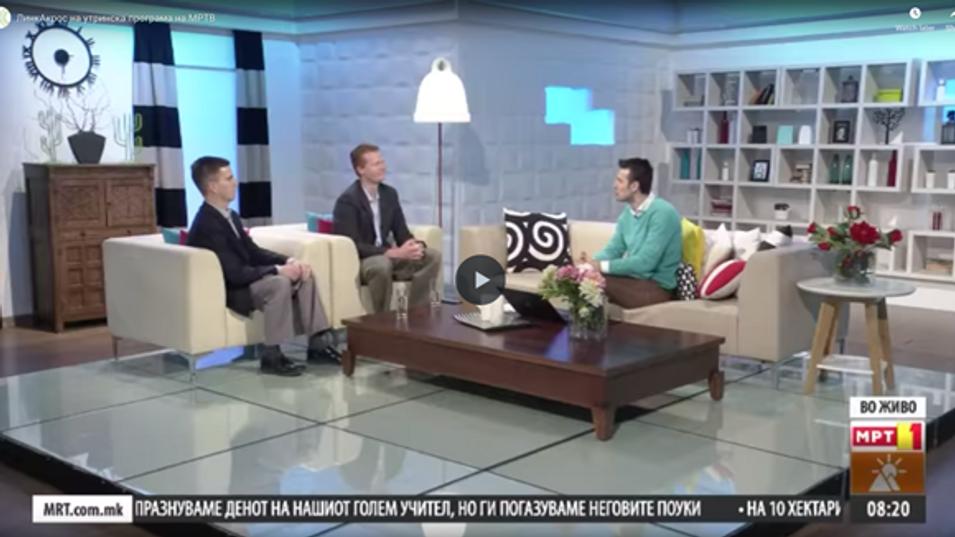 LinkAcross directors, guests at national morning show on MRTV (Macedonian TV)
