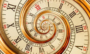 Antique old spiral clock abstract fracta