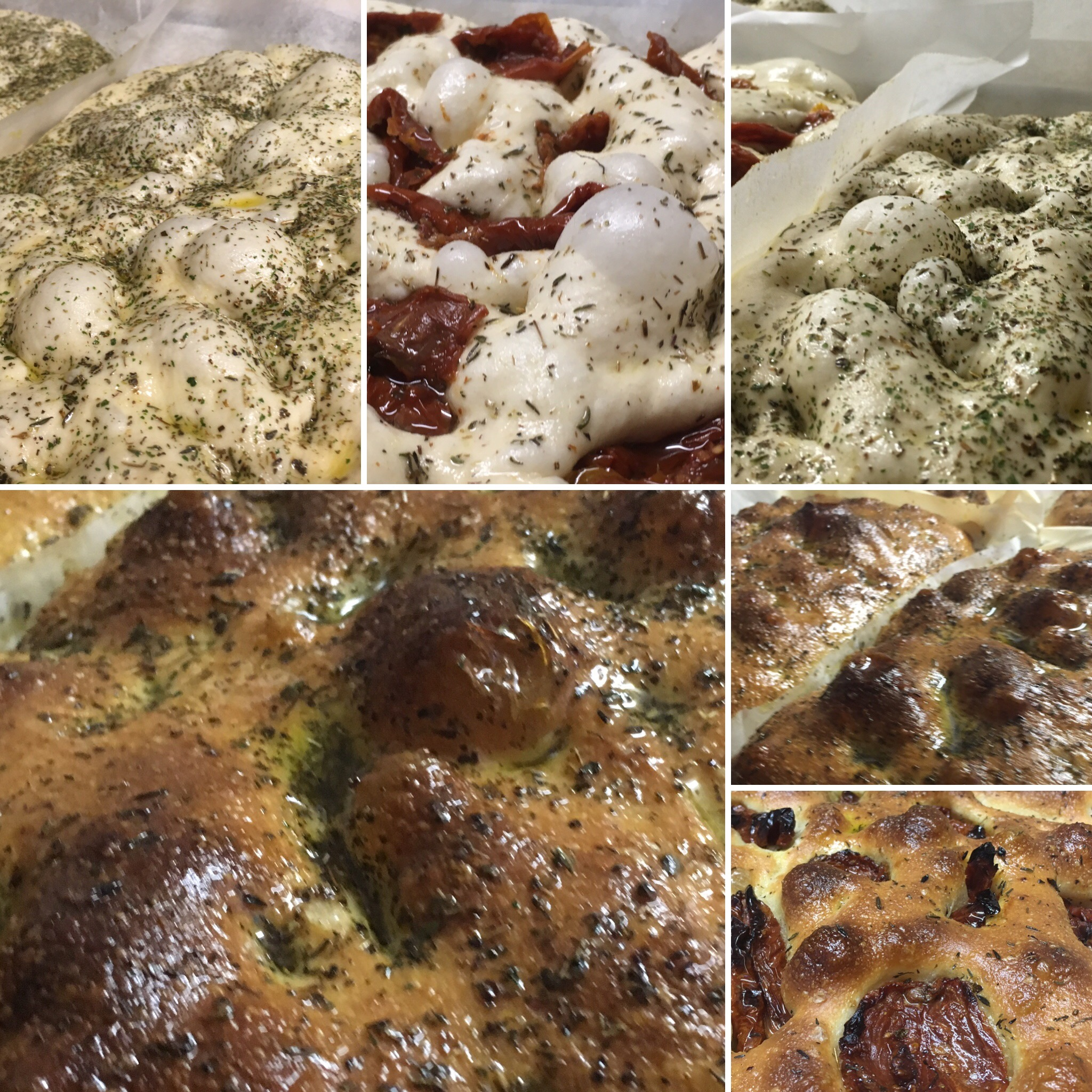 The stages of Focaccia