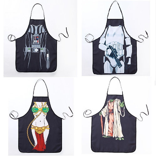 Novelty Funny Apron Star Wars Soldier Kitchen Apron Dinner Party Cooking Apron