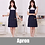 Thumbnail: Apron Kit Custom Logo Kitchen Cooking Baking Bib Milktea Shop With Pockets