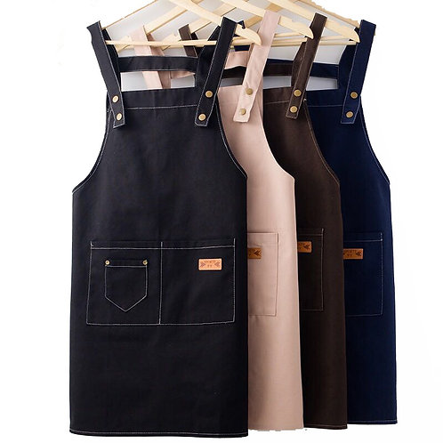Apron Kit Custom Logo Kitchen Cooking Baking Bib Milktea Shop With Pockets