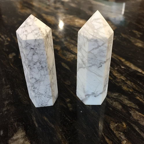 Howlite Crystal Points