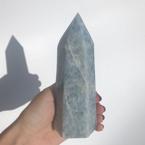 Blue Calcite Tower
