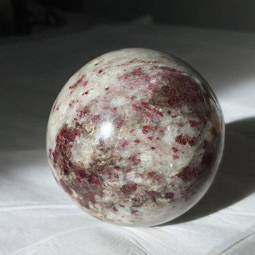 Large Pink Tourmaline Sphere