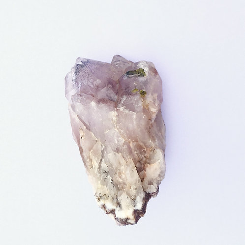 Pink Quartz with Green Tourmaline and Mica Crystal Cluster