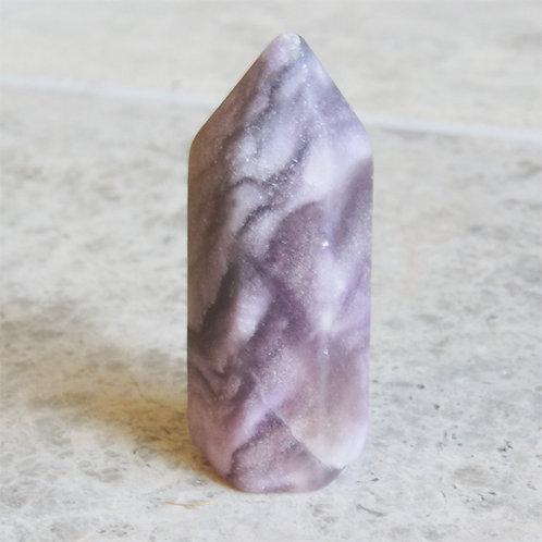 Pink Fluorite Crystal Points 6cm