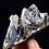 Thumbnail: Black Quartz with Calcite Crystal Cluster