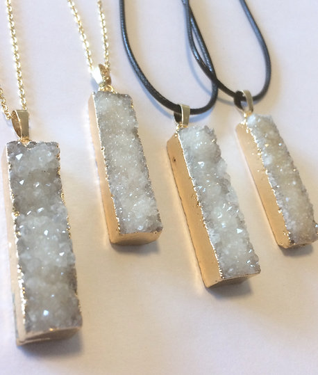 Quartz Cluster Crystal Necklace