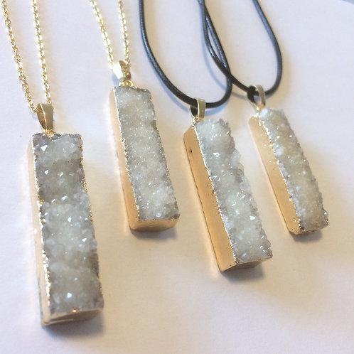 Quartz Cluster Crystal Necklace