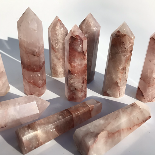 Red Hematoid Quartz Points
