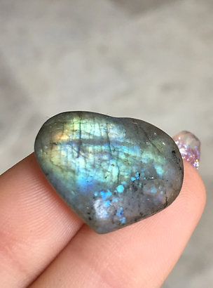 Mini Labradorite Hearts