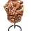 Thumbnail: Red Hematoid  Quartz (Original Strawberry Quartz) cluster on a stand from Brazil