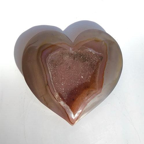 Red Carnelian Druzy Heart